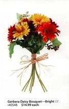 Home Interiors Floral Bright Gerbera Daisy Ea. Last One! New Homco Hig 40548 - $14.84