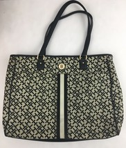 Tommy Hilfiger Laptop Bag Tote Carry Case Womens TH Logo Print - $19.75