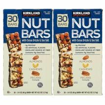 2 Pack Kirkland Signature Nut Bars, 1.41 Oz, 30 Units Each - $50.49