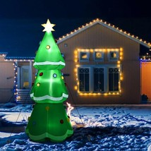 10' Inflatable Christmas Tree LED Lighted Giant Waterproof - $89.21