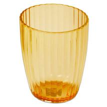 Waste Basket- Orange Ribbed Acrylic Bath Accessory - $23.79