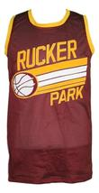 Custom Name # Rucker Park Basketball Jersey New Sewn Maroon Any Size image 1