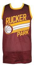 Custom Name # Rucker Park Basketball Jersey New Sewn Maroon Any Size image 1