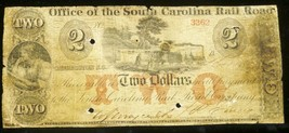 SC , CHARLESTON , 1800' s  Office of the South Carolina Rail Road $2. MA... - $197.01