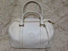 Authentic Fendi, Italy, White Leather  Purse Handbag, 12in x 10in x 4in - $142.45