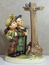 Hummel Figurine 331, Crossroads Halt sign down - $411.52