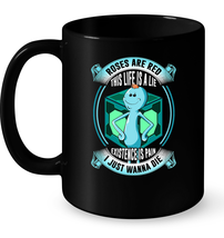 Roses Are Red Existence Is Pain Mr. Meeseeks Rick and Morty Coffee Mug T... - $13.99