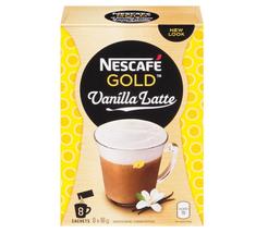 NESCAFÉ GOLD Vanilla Latte, Instant Coffee Sachets (8 x 18 g) - $20.42