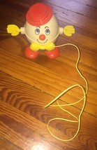 Vintage Fisher Price Humpty Dumpty Pull along toy w/spinning arms 1960's... - $18.50
