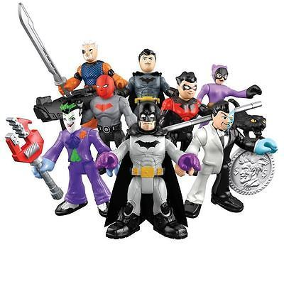 Primary image for Imaginext DC Super Friends - Series 1 - Complete Set of 8 Mini Figures - DMY00