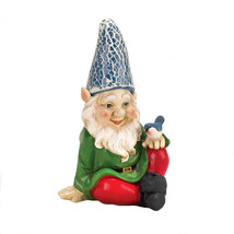 Gnomes Statues, Funny Garden Gnomes, House Miniature Cheery Gnome Solar ... - $20.23