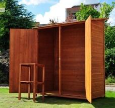 Wooden Shed Garden Tools Storage Double Door Lockable Shiplap Cladding 4... - $331.84