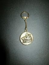 Vintage Gordon's Gin Boars Head Key Fob Chain-Brass?-Hard To Find!! - $12.95