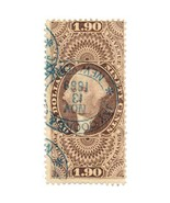 1863 $1.90 U.S. Internal Revenue, George Washington R80c Jay Cooke NY ca... - $189.00