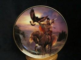 SPIRIT OF THE EAST WIND collector plate HERMON ADAMS Native WESTERN HERI... - $9.99