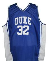 Christian Laettner #32 Custom College Basketball Jersey New Sewn Blue Any Size image 4