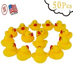 Rubber Duck Bath Toy Baby Ducky Squeaky Toy Yellow Ducks Kids Float Wate... - $22.11