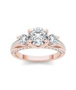 14k Rose Gold 1 3/4ct TDW Three-stone Diamond Ring - £3,519.19 GBP