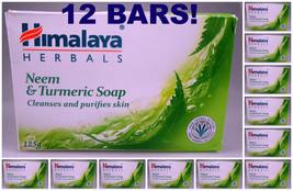 12 BARS! Himalaya Herbals Neem & Turmeric Soap Cleanses & Purifies Skin USA SELR - $34.00
