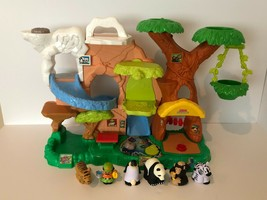Fisher Price Little People Zoo Talkers Jungle Safari Playset 5 Animals 1... - $49.99