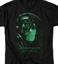Borg t-shirt Star Trek Resistance is Futile humanoid retro sci-fi series CBS515 image 3