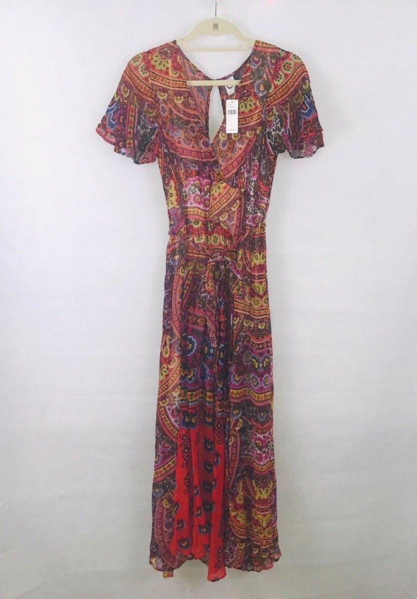 Anthropologie Murol Wrapped Maxi Dress by Akemi+Kin $168 Sz 4P - NWT