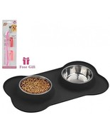 Way-Seven Stainless Steel Pet Bowls Dog Bowls With No Spill And Non-Skid... - $22.88