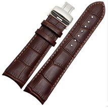 Compatible 22mm Brown Leather Watch Strap Band with Clasp/Buckle for Tissot T035 - $33.48