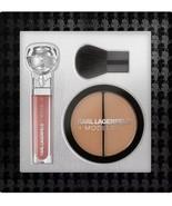 KARL LAGERFELD -MODELCO Luxe Beauty Gift Set Lip Lights Gloss Bronzer an... - $39.55