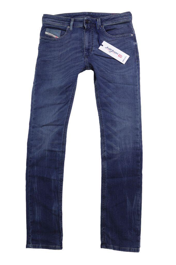 Diesel Men's Premium Slim Skinny-Leg Denim Joggers Jeans Thavar 0607S