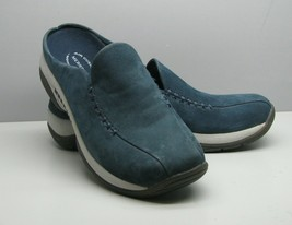Merrell Petrol Blue Suede SHOES Woman's 7.5 Slip On Air Cushion Excellent - $23.75