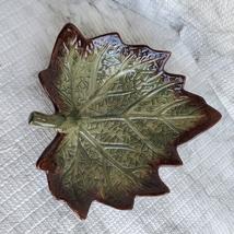 "Ceramic Grape Leaf Dish, 7"", Pottery Spoon Rest, Bowl, Teabag Holder, Soap Dish image 2"