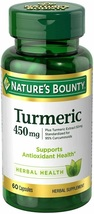 Nature's Bounty Turmeric Pills and Herbal Health Supplement, Supports Pain Relie - $42.08