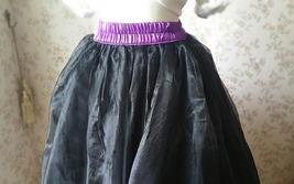 Fuchsia and Golden Tulle Long skirt Tulle Mesh Princess Skirt, Ballet Skirt NWT image 8