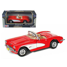 1959 Chevrolet Corvette Convertible Red 1/24 Diecast Model Car by Motormax 73... - $36.95