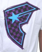 Famous Stars & Straps White/Purple Check It Checker BOH Badge of Honor T-Shirt image 3