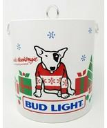Vintage 1987 Bud Light Spuds MacKenzie Holiday Vinyl Ice Bucket - $23.70