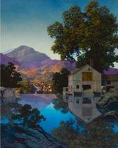 "Maxfield Parrish Vintage Bookplate Print ""The Mill Pond"" 1945 - $12.00"