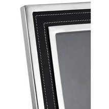 6in X 8in Churchill Photo Frame Blk Genuine Leath/nickel - €61,15 EUR