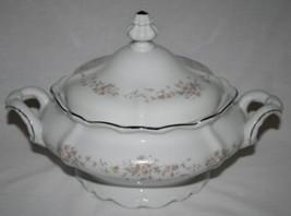 JOHANN HAVILAND Bavaria Germany Floral Splendor Covered Vegetable Bowl  ... - $78.00