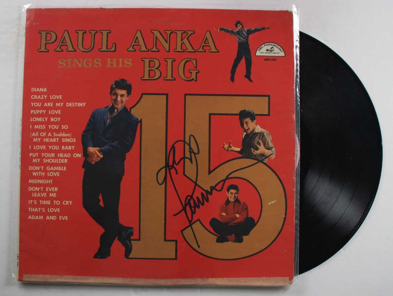 "Primary image for Paul Anka Signed Autographed ""Big 15"" Record Album"