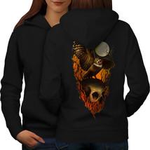 Owl Skull Night Horror Sweatshirt Hoody  Women Hoodie Back - $21.99+