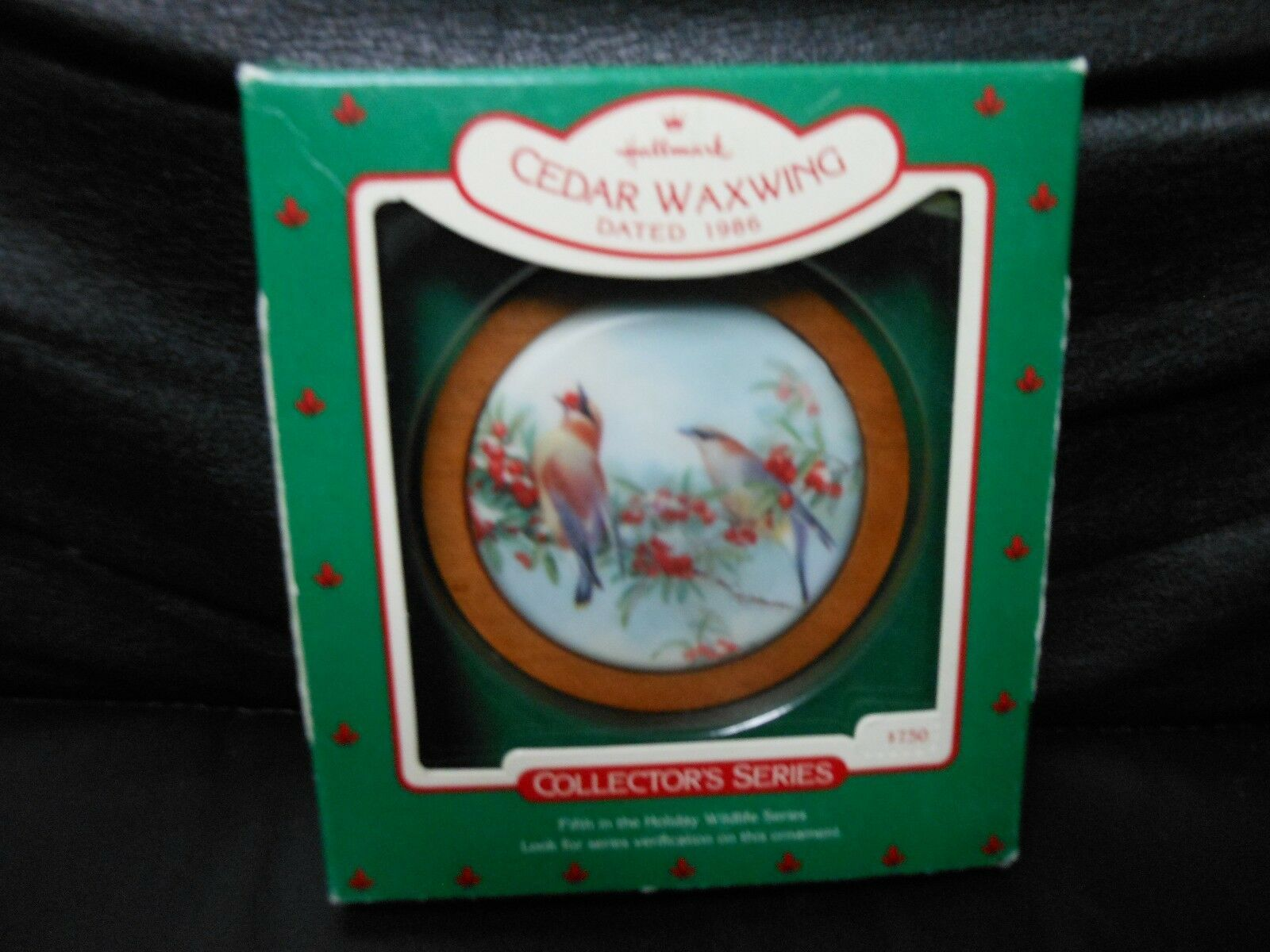 "Primary image for Hallmark Keepsake ""Cedar Waxwing"" 1986 Ornament NEW 5th in Series"