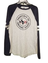 NEW - NFL Property of Houston Texans Long Sleeve Men's Crew Neck Shirt - Large - $17.00