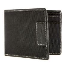 Nylon Leather Wallet For Men - Mens Wallet With ID Window RFID Blocking - $12.99