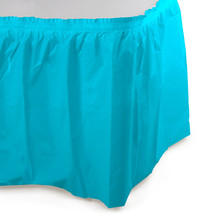 14 ft Plastic Tableskirt Bermuda Blue/Case of 6 - $52.24