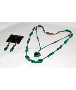 Totem Pond - Malachite Necklace and Earring Set. - $452.00