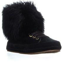 UGG Australia Antoine Fur High Top Sneakers, Black, 6.5 US / 37.5 EU - $78.71