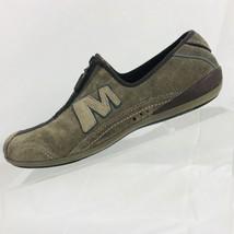 Merrell Arabesque Gunsmoke Womens Leather Front Top Zipper Shoes Size 7 - $24.74