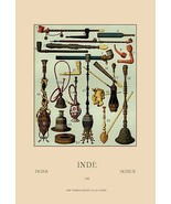 Pipes of India by Auguste Racinet - Art Print - $19.99+